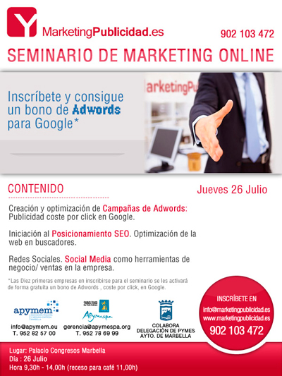 Evento 26 julio. Marketing