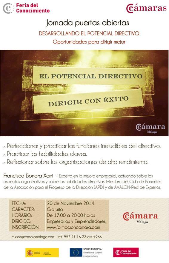 """Jornada Gratuita """" El Potencial Directivo: Claves sobre cómo dirigir con ÉXITO una empresa"""""""