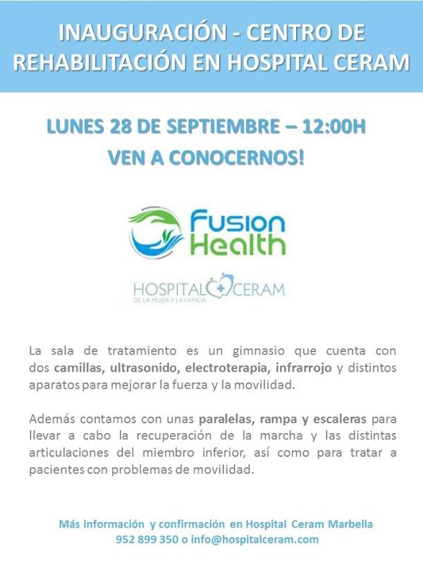 Hospital Ceram inaugura su nuevo centro de rehabilitación