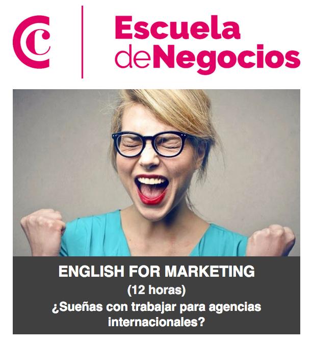 Para conseguirlo, el inglés es el aliado perfecto. En este taller intensivo y especializado en inglés de publicidad y marketing, aprenderás a manejar un vocabulario imprescindible, que te ayudará a hacer realidad tu sueño.