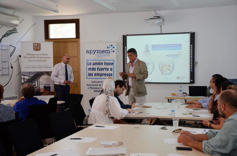 Taller sobre Creatividad Empresarial organizado por APYMEM, el pasado jueves 19 de mayo en MIUC (Marbella International Studies Center)