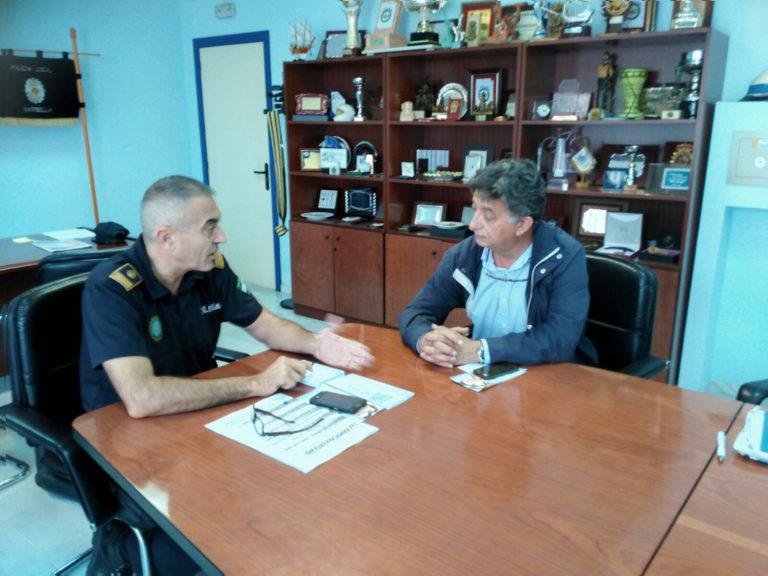 Reunión Apymem y Policia local de Marbella