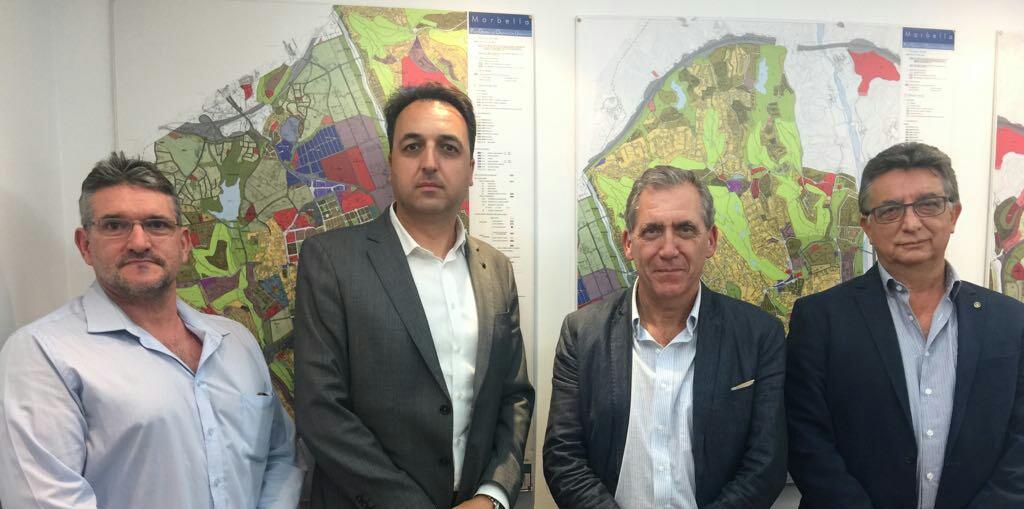D. Custodio Medina, D. Francisco Urbano, D. José Morente y D. Enrique Guerrero