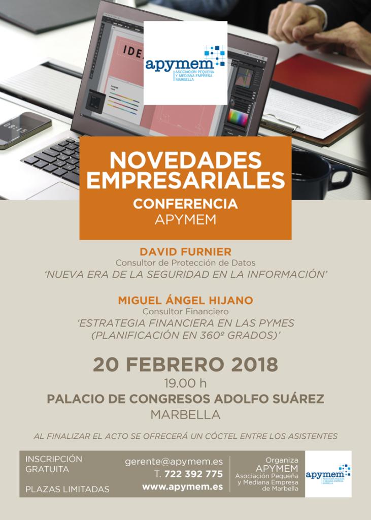 20180213 cartel conferencia novedades empresariales