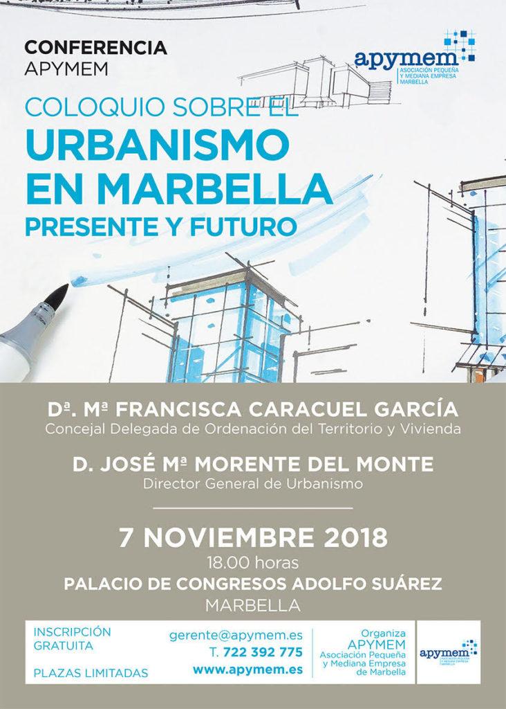 """Coloquio Apymem """"Urbanismo en Marbella: presente y futuro"""""""