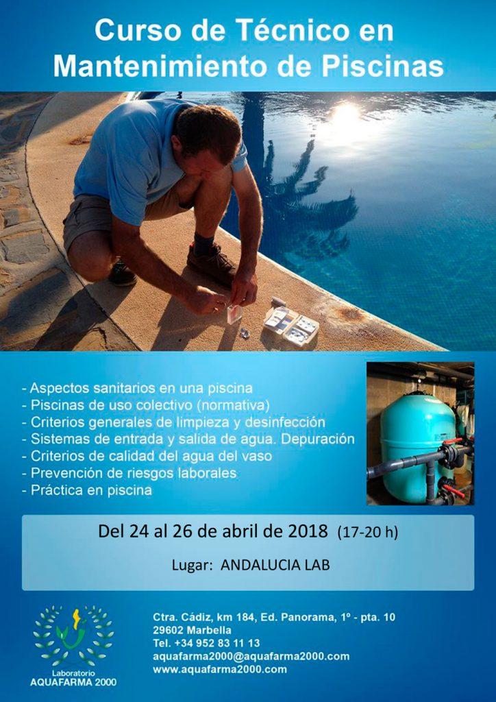Formación AquaFarma: Curso de técnico en mantenimiento de piscinas