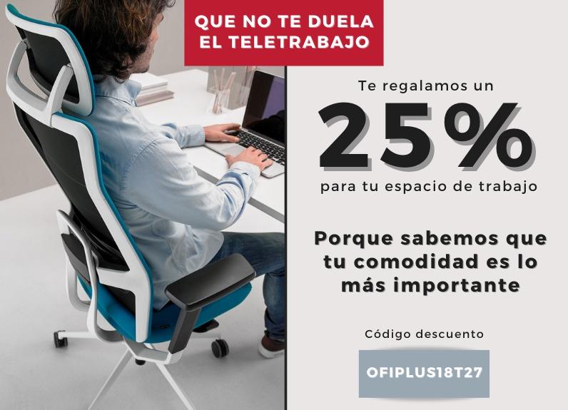 25% de descuento en mobiliario de oficina a través de la web